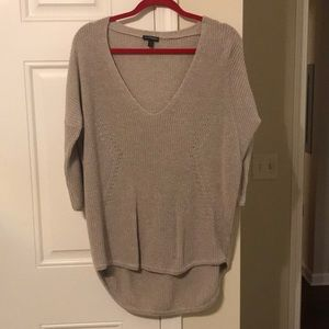 Express Tan 3/4 Sleeve Length Sweater